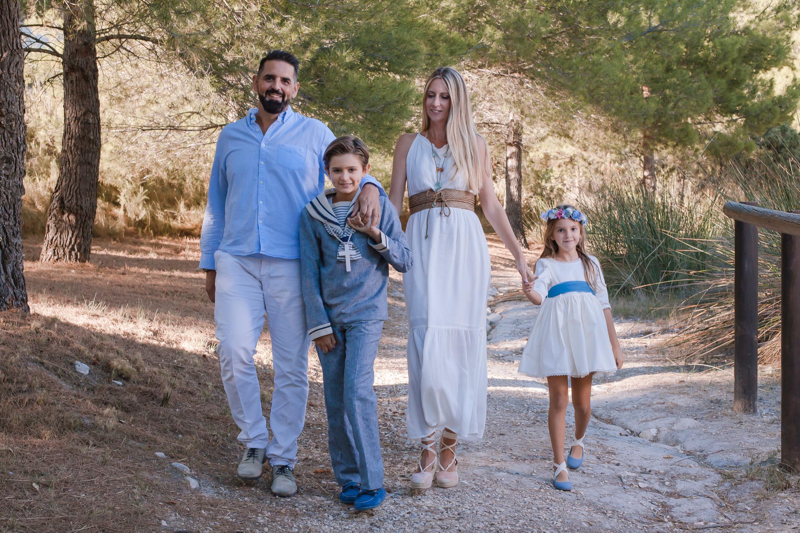 Fotos de comunión con familia
